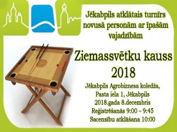 Rezultāti. Jēkabpils atklātais turnīrs personām ar īpašām vajadzībām.  08.12.18.