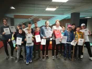 Rezultāti. Liepājas 1.jauniešu čempionāts novusā. 11.05.19.